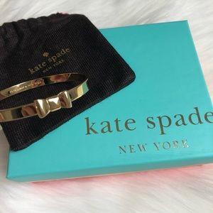 Kate Spade Take a Bow Yellow Gold Bangle NEW
